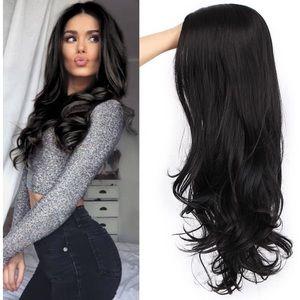 Black Wavy Long Wig Synthetic Natural Looking